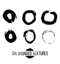 Set of dirty scratched splattered elements vector image vector image