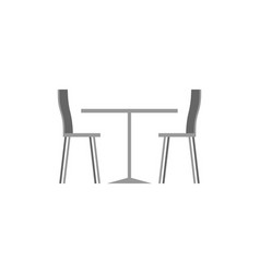 table and chairs in cafe on white background vector image
