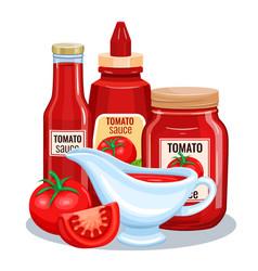 tomato sauce ketchup vector image vector image