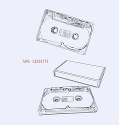 vintage audio tape cassette vector image