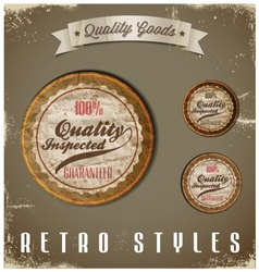 Vintage labels template set retro logo design vector