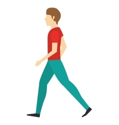 young man walking isolated icon design vector image