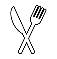 Cutlery tool isolated icon vector