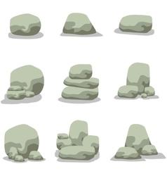 stone rock set vector image