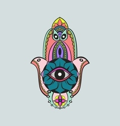 Hamsa candy color fatima hand vector