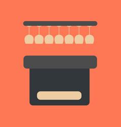Flat icon on background poker pub bar vector