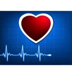 normal ecg blue background vector image