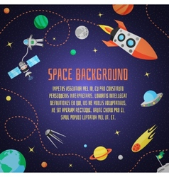 Space cartoon background vector