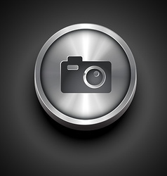 Metallic camera icon vector