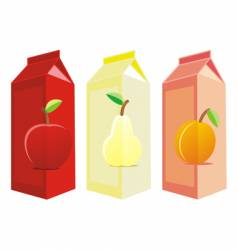 Juice carton boxes vector