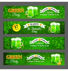 Set with banners for celebration st patricks day vector