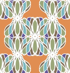 Bright orange abstract seamless pattern vector