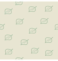 Tree leaf green seamless pattern vector