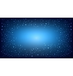 Blue space background vector