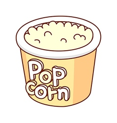 A view of pop corn vector image