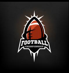 american football championship logo vector image vector image