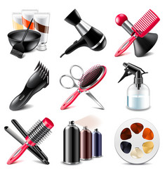 Barbershop icons set vector image