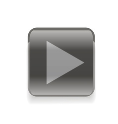 Black play button vector image vector image
