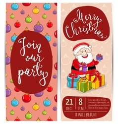 Bright promotion flyer for club christmas party vector