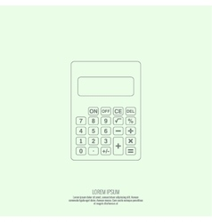 Calculator top view vector image