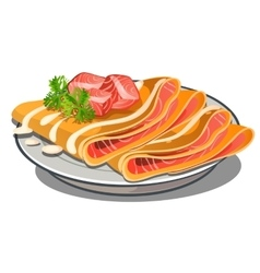 Delicious with trout food isolated vector