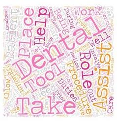 Dental assistants 1 text background wordcloud vector