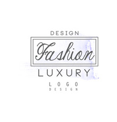 Design fashion luxury logo badge for clothes vector