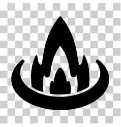 Fire location icon vector