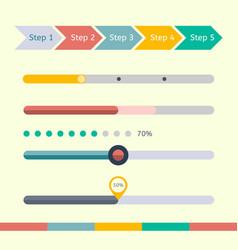 Flat web design progress bars set vector