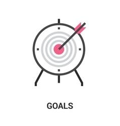 goals icon concept vector image vector image