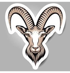 goat sticker vector image vector image