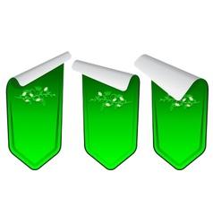 Green stickers set vector image vector image