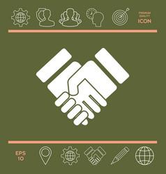 handshake stylized symbol vector image