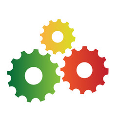 Isolated group of gears vector