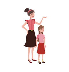 Mother and daughter vector
