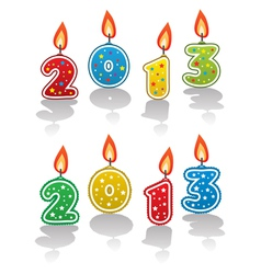 new year 2013 candles vector image vector image