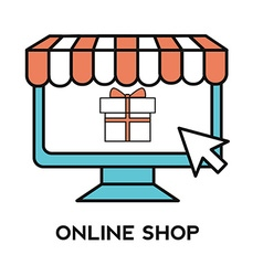 Online shopping process website item buy click pay vector image vector image