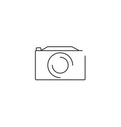 photo camera line icon vector image