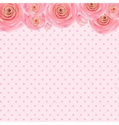 Pink rose background vector
