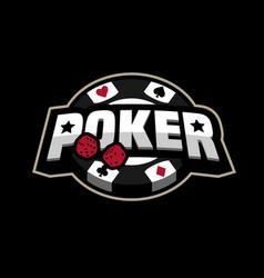 Poker game logo emblem vector