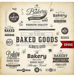 Rustic food label set vector