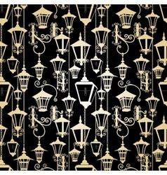 Seamless lantern pattern vector image vector image