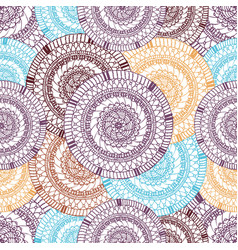 seamless pattern of hand drawn round items vector image vector image