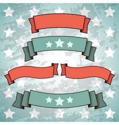 Set of retro patriotic banners vector