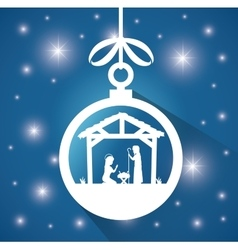 Silhouette manger merry christmas design design vector