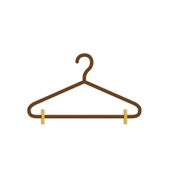 Silhouette with hook closet shirt vector