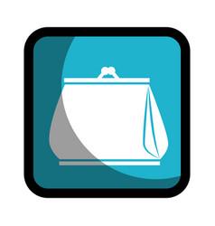 square button woman purse icon design vector image