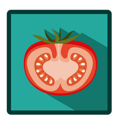 symbol tomato split in half icon vector image