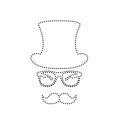 Hipster accessories design  black dotted vector