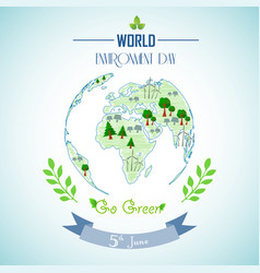 World environment day with shape paintings vector